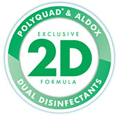 POLYQUAD® and ALDOX® Dual Disinfection System cleans and disinfects contact lenses.